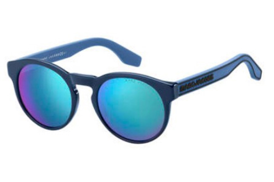 Marc Jacobs Marc 358/S Sunglasses in 0PJP Blue (T5 mirror green lens)