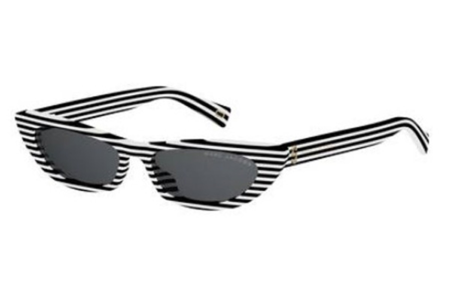 Marc Jacobs Marc 403/S Sunglasses in 07LL White Striated (IR gray blue lens)