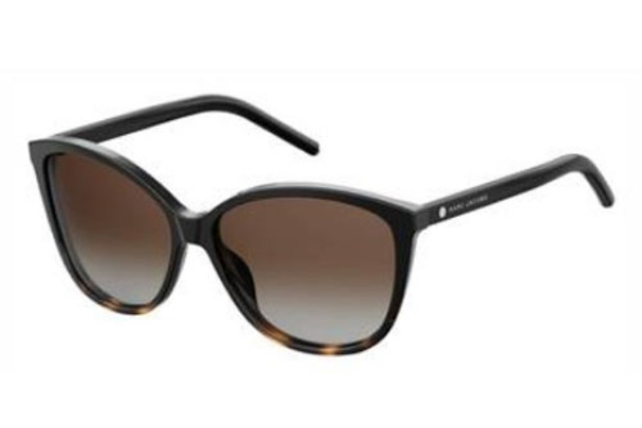 Marc Jacobs Marc 69/S Sunglasses in 0WR7 Black Havana (LA brown gradient polz lens)