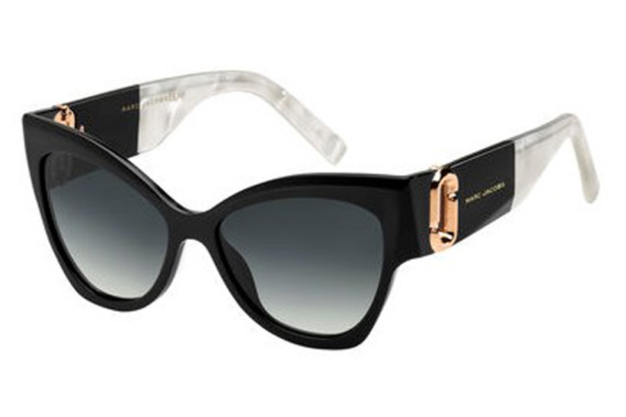 Marc Jacobs Marc 109/S Sunglasses in 02T1 Black Mother Of Pearl (9O dark gray gradient lens)