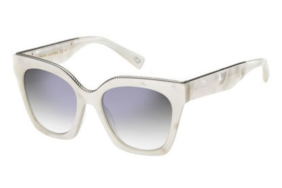 Marc Jacobs Marc 162/S Sunglasses in 02M1 White Pearl (IC gray mirror shaded silver lens)