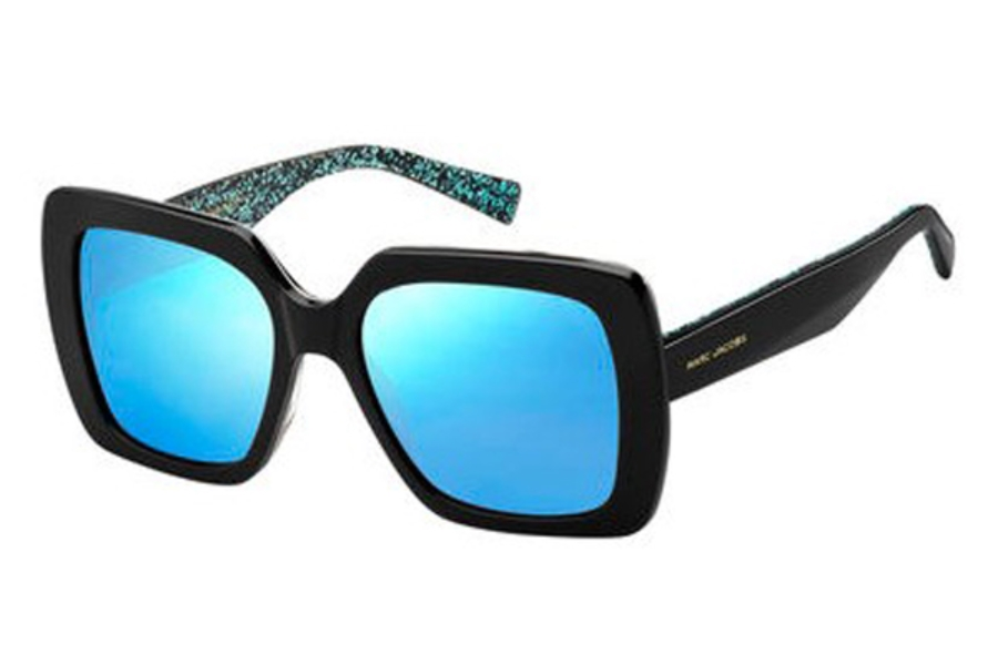 Marc Jacobs Marc 230/S Sunglasses in 02PO Bkbeanim (3J azure mirror lens)