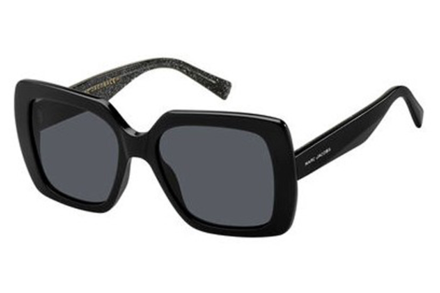 Marc Jacobs Marc 230/S Sunglasses in 0NS8 Black Glitter (IR gray blue pz lens)