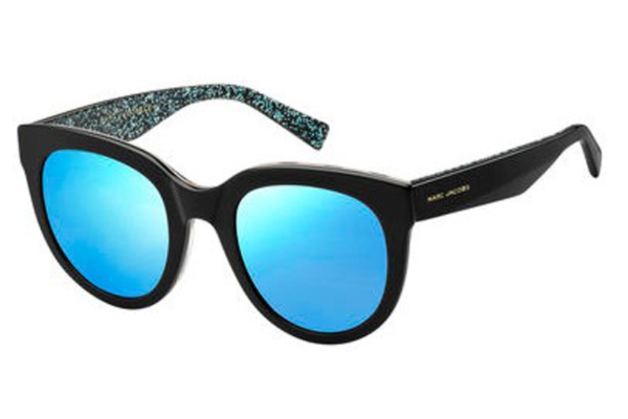 Marc Jacobs Marc 233/S Sunglasses in 02PO Bkbeanim (3J azure mirror lens)
