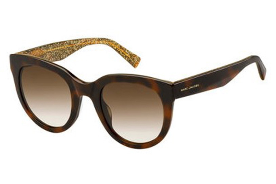 Marc Jacobs Marc 233/S Sunglasses in 0DXH Havana Bwglgd (HA brown gradient lens)