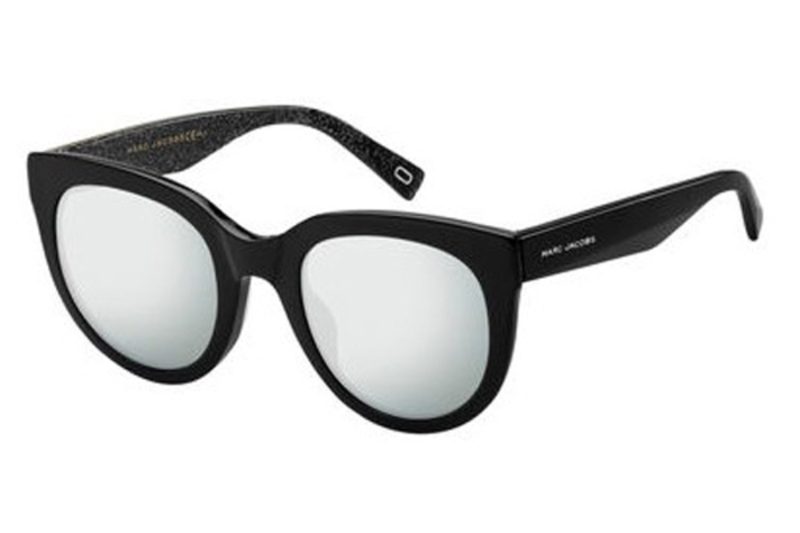 Marc Jacobs Marc 233/S Sunglasses in 0NS8 Black Glitter (T4 black mirror pz lens)