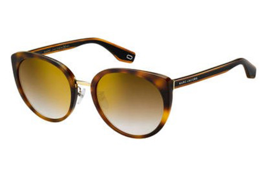 Marc Jacobs Marc 281/F/S Sunglasses in 0086 Dark Havana (JL brown ss gold lens)