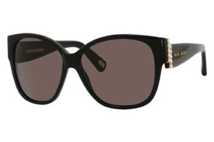 Marc Jacobs 307/S Sunglasses in 0807 Black (NR brown gray lens)