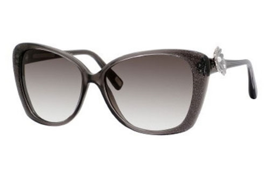 Marc Jacobs 347/S Sunglasses in 042X Gray Glitter (JS gray gradient lens)