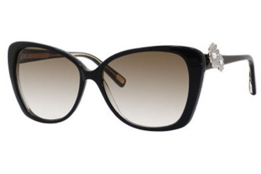 Marc Jacobs 347/S Sunglasses in 041X Black Glitter (JS gray gradient lens)