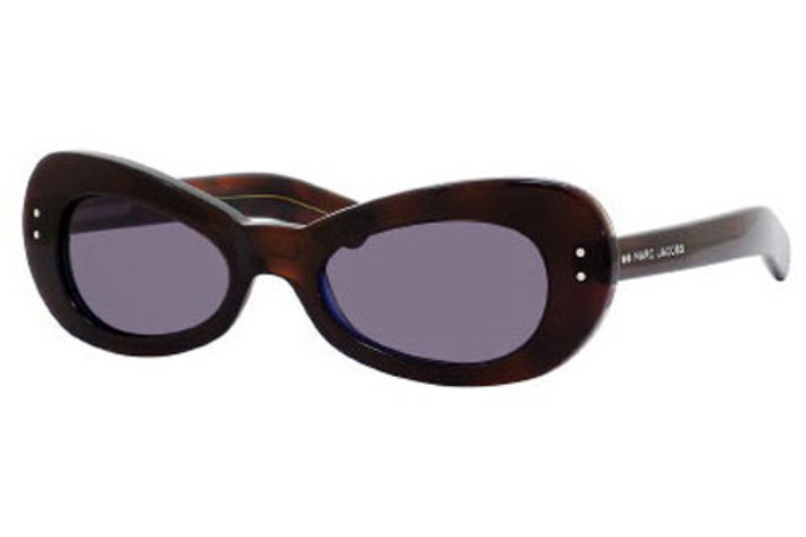 Marc Jacobs 366/S Sunglasses in 0D9S Havana Blue (Y1 gray lens)