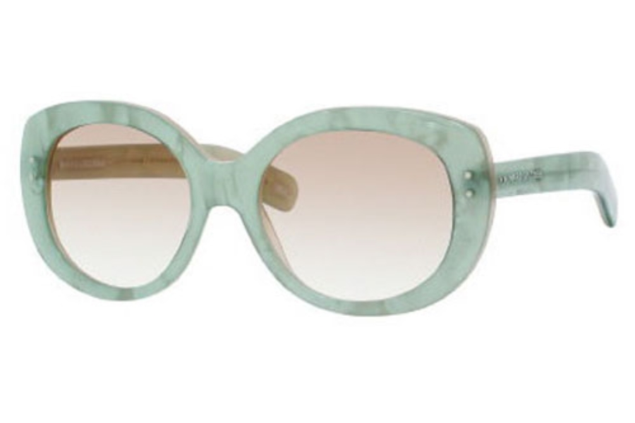 Marc Jacobs 367/S Sunglasses in 0IKS Aqua Pearl (S6 brown gradient lens)