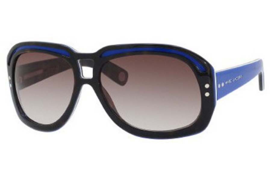 Marc Jacobs 402/S Sunglasses in 0CWG Havana Blue White (FM brown violet shaded lens)