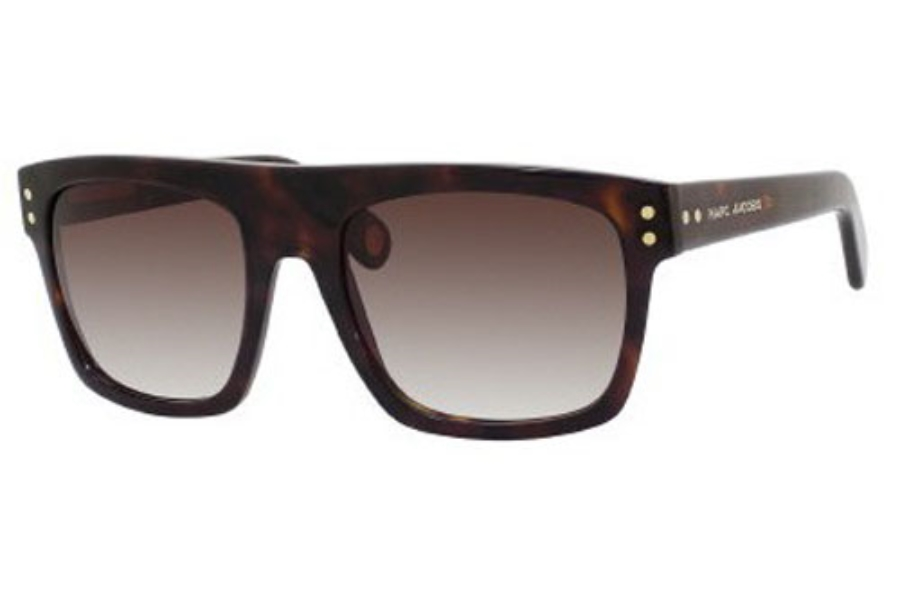 Marc Jacobs 406/S Sunglasses in 0086 DARK HAVANA (JS GRAY GRADIENT lens)