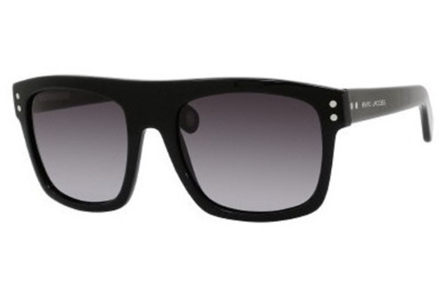 Marc Jacobs 406/S Sunglasses in 0807 BLACK (HD GRAY GRADIENT lens)