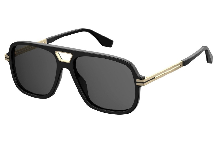 Marc Jacobs Marc 415/S Sunglasses in 02M2 Black Gold (IR Gray Blue)