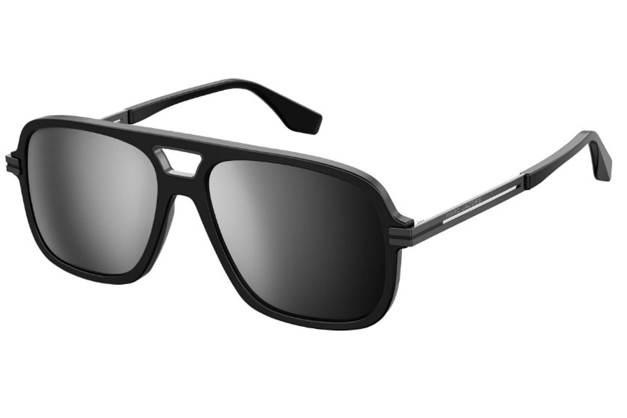 Marc Jacobs Marc 415/S Sunglasses in 0807 Black (T4 Silver Mirror)