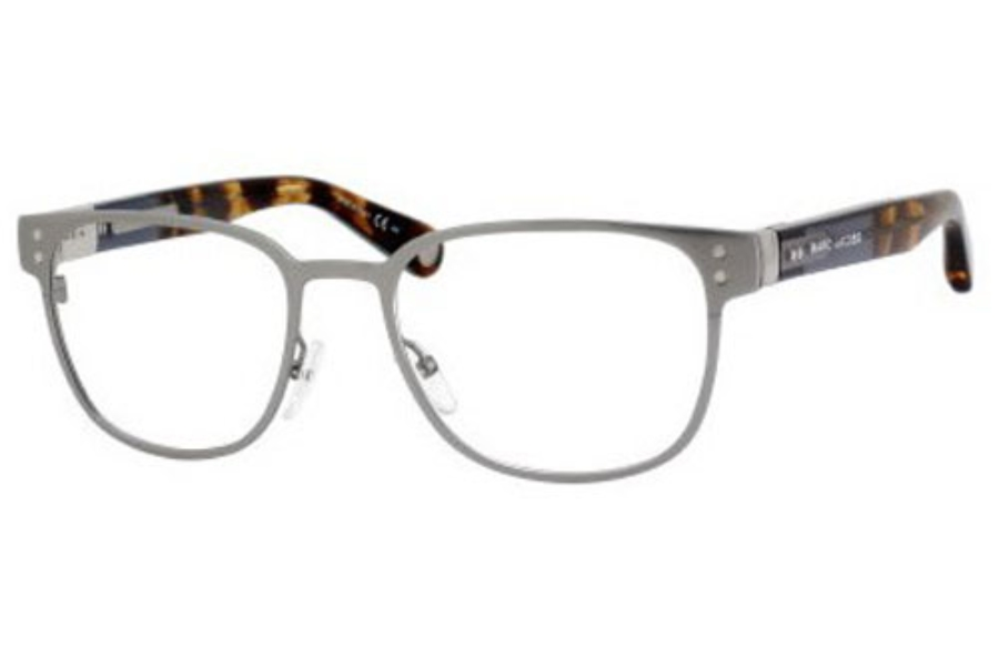 Marc Jacobs 477 Eyeglasses in 050L Ruthenium Blue Brown Havana