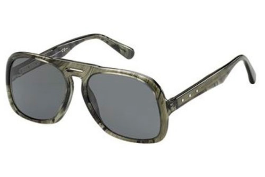 Marc Jacobs 626/S Sunglasses in 0KTF Striped Gray (P9 gray lens)