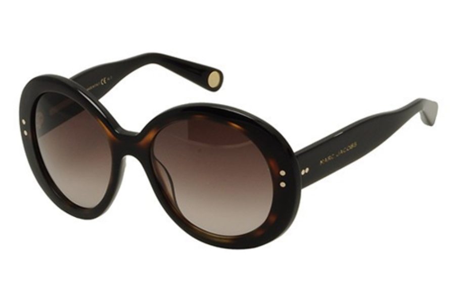 Marc Jacobs 430/S Sunglasses in 038W Black / Havana (HA brown gradient lens)