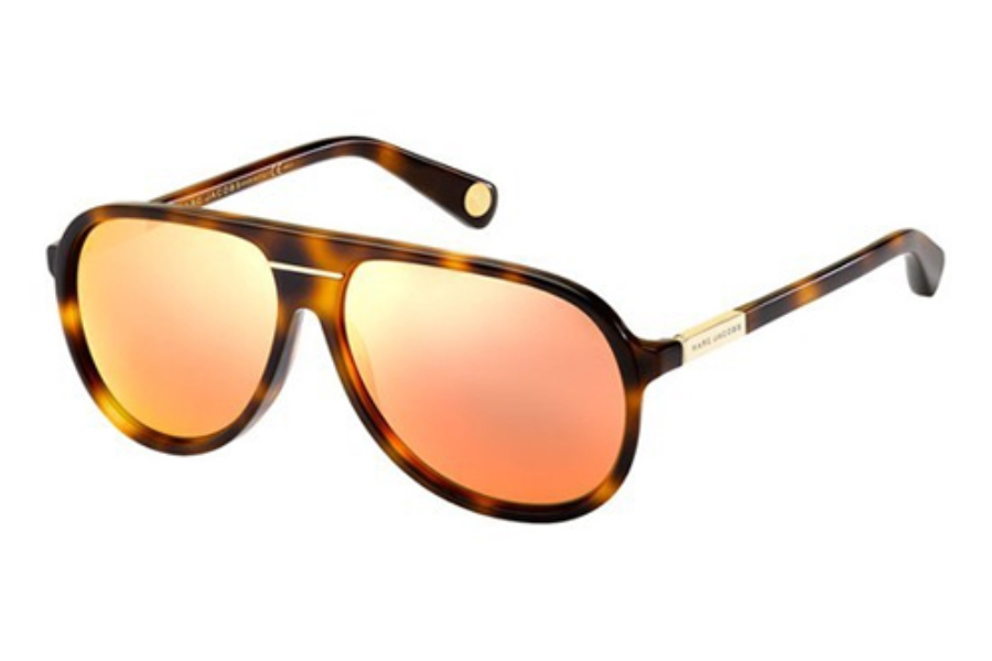 Marc Jacobs 514/S Sunglasses in 005L Havana (UZ red mirror lens)