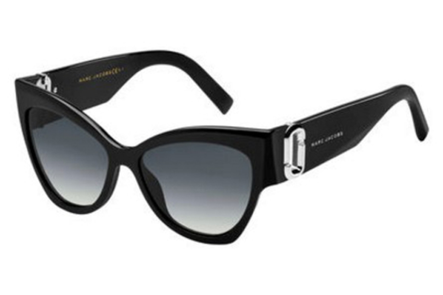 Marc Jacobs Marc 109/S Sunglasses in 0807 Black (9O dark gray gradient lens)