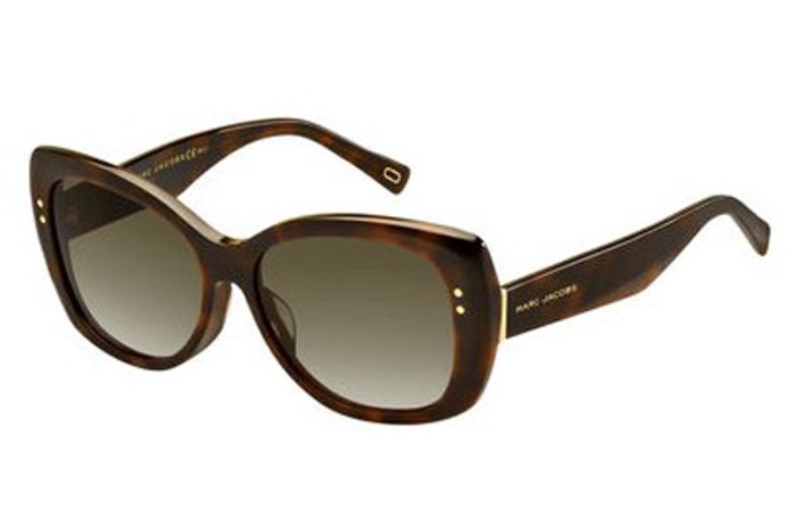 Marc Jacobs Marc 121/F/S Sunglasses in 0ZY1 Havana Medium (HA brown gradient lens)