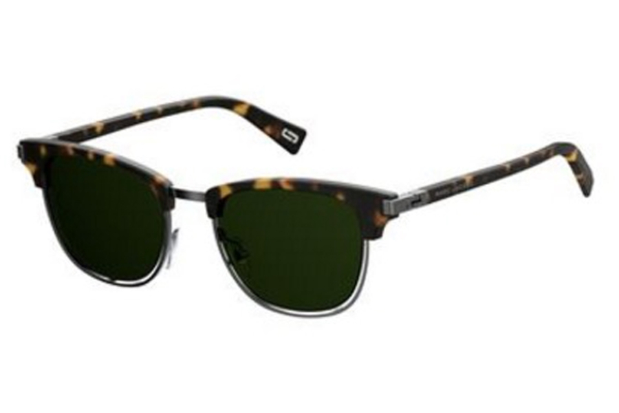 Marc Jacobs Marc 171/S Sunglasses in 0086 Dark Havana (QT green lens)