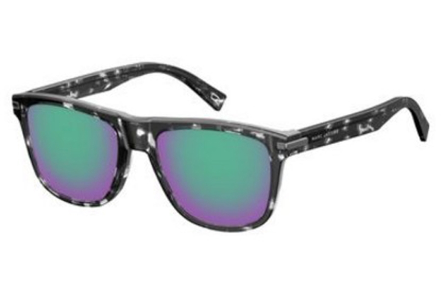 Marc Jacobs Marc 185/S Sunglasses in 0LLW Gray Havana Crystal (T5 mirror green lens)