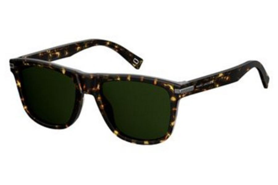 Marc Jacobs Marc 185/S Sunglasses in 0LWP Crystal Havana (QT green lens)