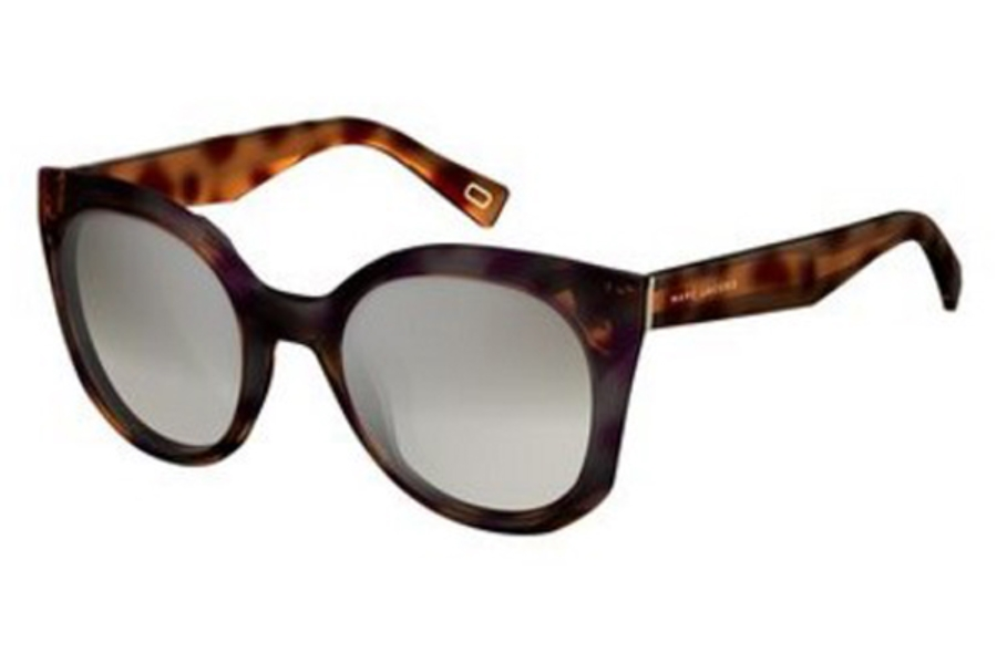 Marc Jacobs Marc 196/S Sunglasses in 0086 Dark Havana (IC gray mirror shaded silver lens)