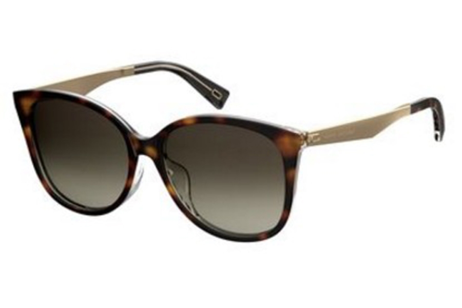 Marc Jacobs Marc 209/F/S Sunglasses in 0086 Dark Havana (HA brown gradient lens)