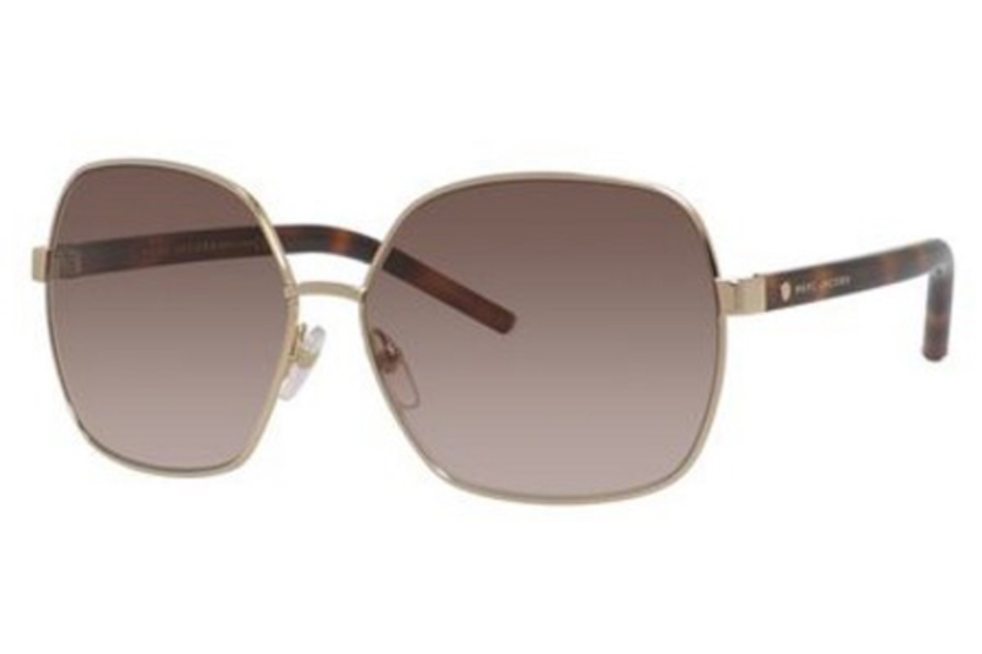 Marc Jacobs Marc 65/S Sunglasses in 0TAV Gold / Havana (JD brown gradient lens)
