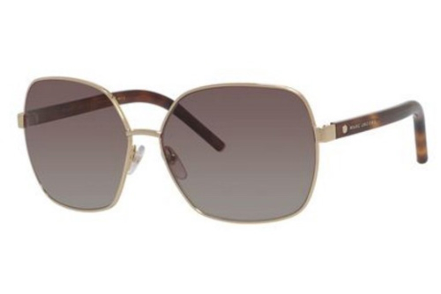 Marc Jacobs Marc 65/S Sunglasses in 0TAV Gold / Havana (LA brown gradient polz lens)