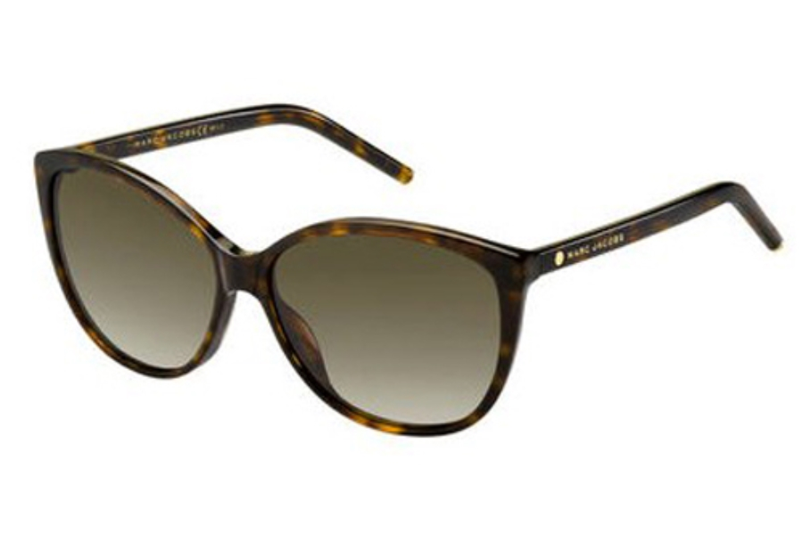 Marc Jacobs Marc 69/S Sunglasses in 0086 Dark Havana (HA brown gradient lens)