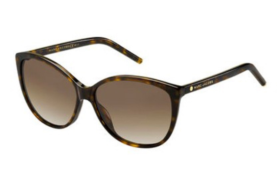 Marc Jacobs Marc 69/S Sunglasses in 0086 Dark Havana (LA brown gradient polz lens)