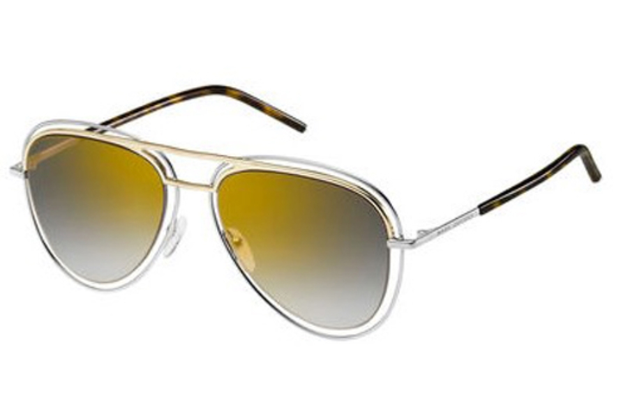 Marc Jacobs Marc 7/S Sunglasses in 0TWM Palladium / Gold (FQ gray sf gold sp lens)