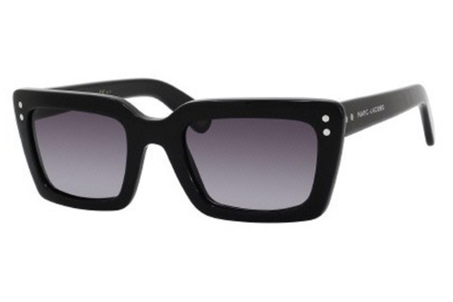 Marc Jacobs 407/S Sunglasses in 0807 Black (HD gray gradient lens)