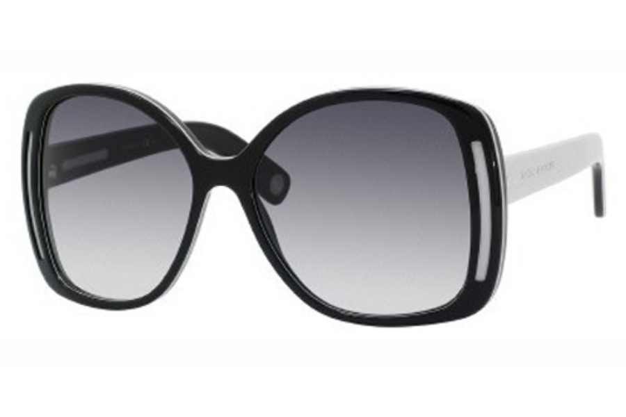 Marc Jacobs 408/S Sunglasses in 0CTP Black Gray Brown (JJ gray gradient lens)
