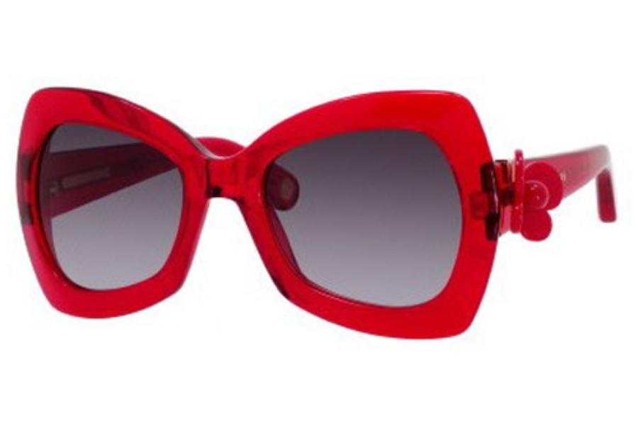 Marc Jacobs 456/S Sunglasses in 0L84 Red (HD gray gradient lens)
