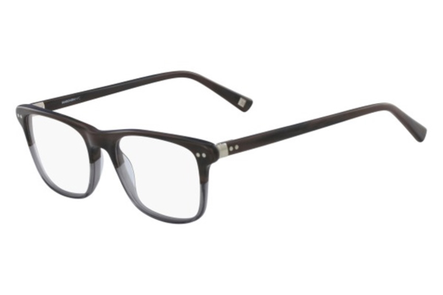 Marchon M-3001 Eyeglasses in 216 Dark Brown Horn