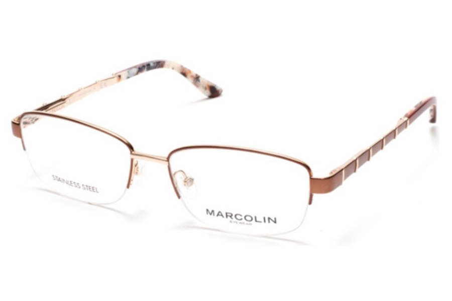 Marcolin MA5015 Eyeglasses in 046 - Matte Light Brown