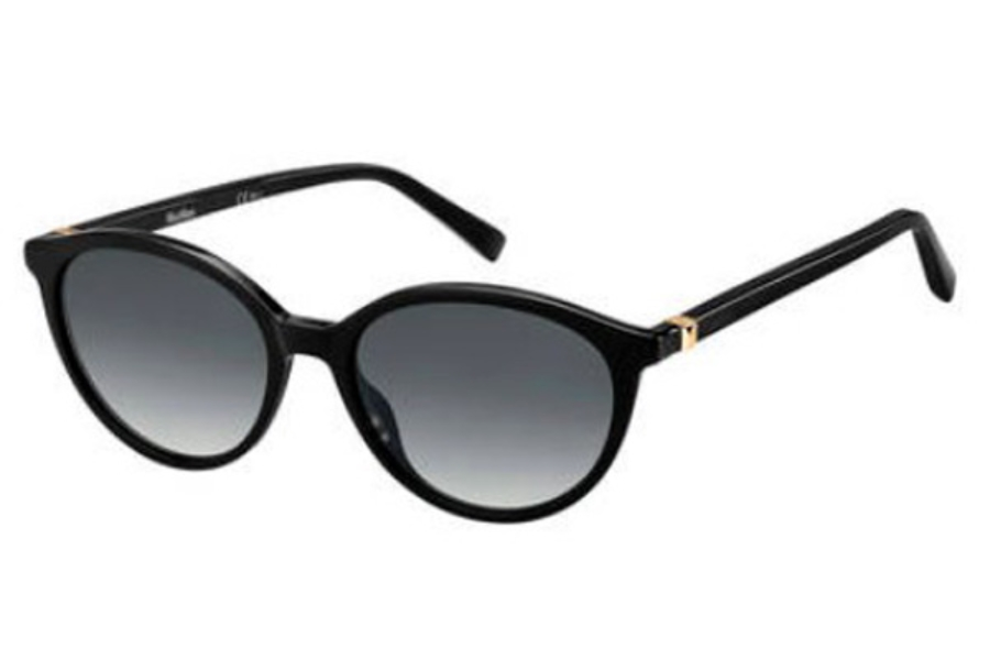 Max Mara MM HINGE III Sunglasses in 0807 Black (9O dark gray gradient lens)