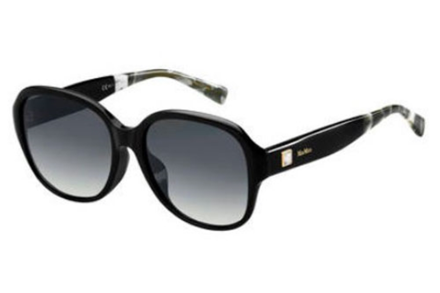 Max Mara MM LEISURE I FS Sunglasses in 0XHZ Black Mrb Gray (9O dark gray gradient lens)