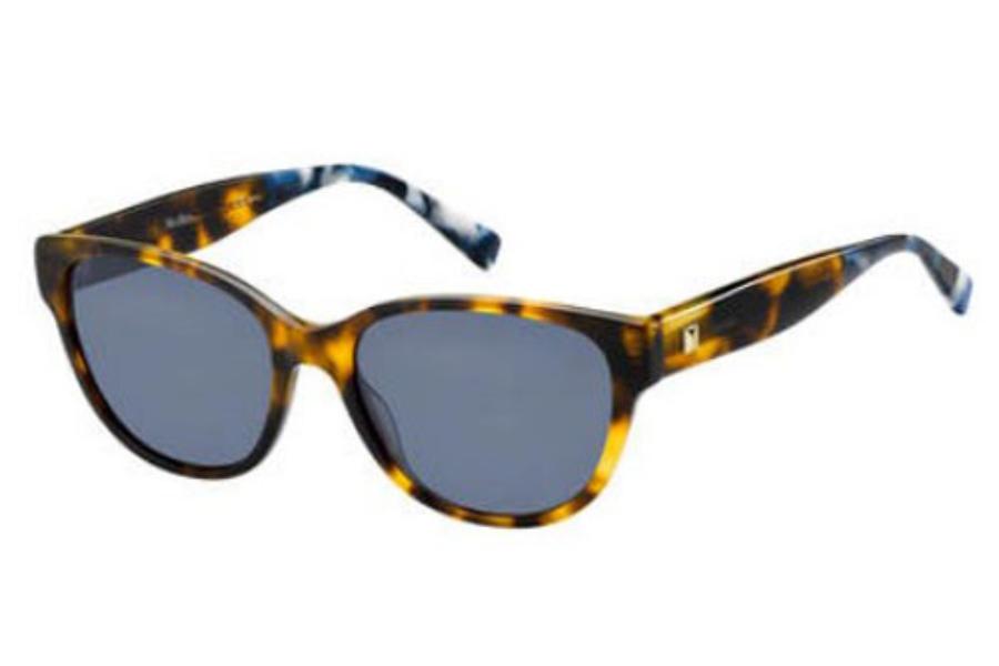 593815ae8c24 Max Mara MM LEISURE Sunglasses in 01BJ Havana Blumrb (KU blue avio lens) ...