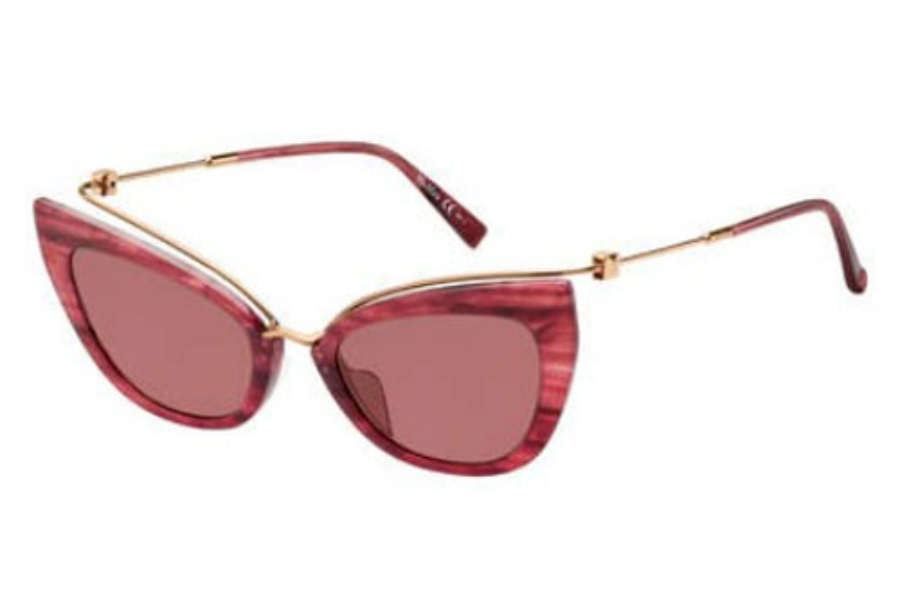 Max Mara MM MARILYN/G Sunglasses in 01ZX Pink Horn (U1 red lens)