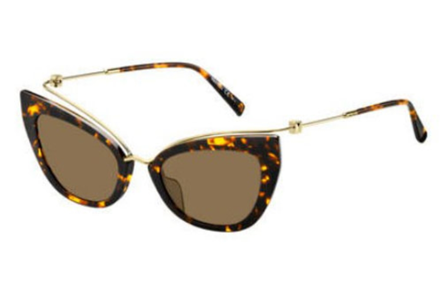 Max Mara MM MARILYN/G Sunglasses in 02IK Havana Gold (70 brown lens)