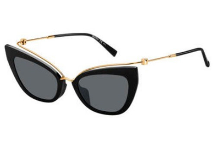 Max Mara MM MARILYN/G Sunglasses in 02M2 Black Gold (IR gray blue lens)