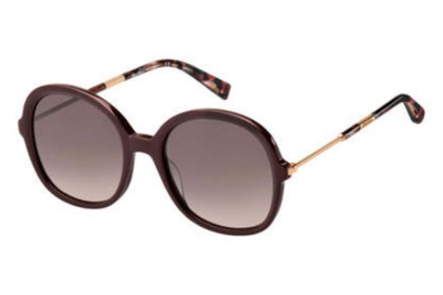 Max Mara MM WAND III Sunglasses in 0LHF Opal Burgundy (3X pink gradient lens)