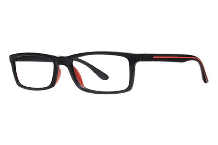 Modz Roanoke Eyeglasses in Matte Black/Red